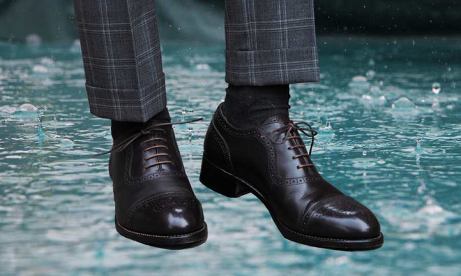 濡れた革靴対処法(裏ワザ)