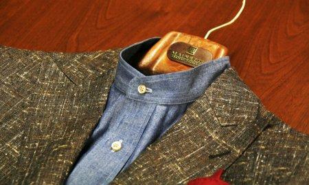ジャケット=バンドカラーシャツ