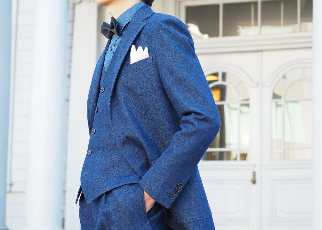 デニムスーツのお値段に関する良くあるご質問はこちら。