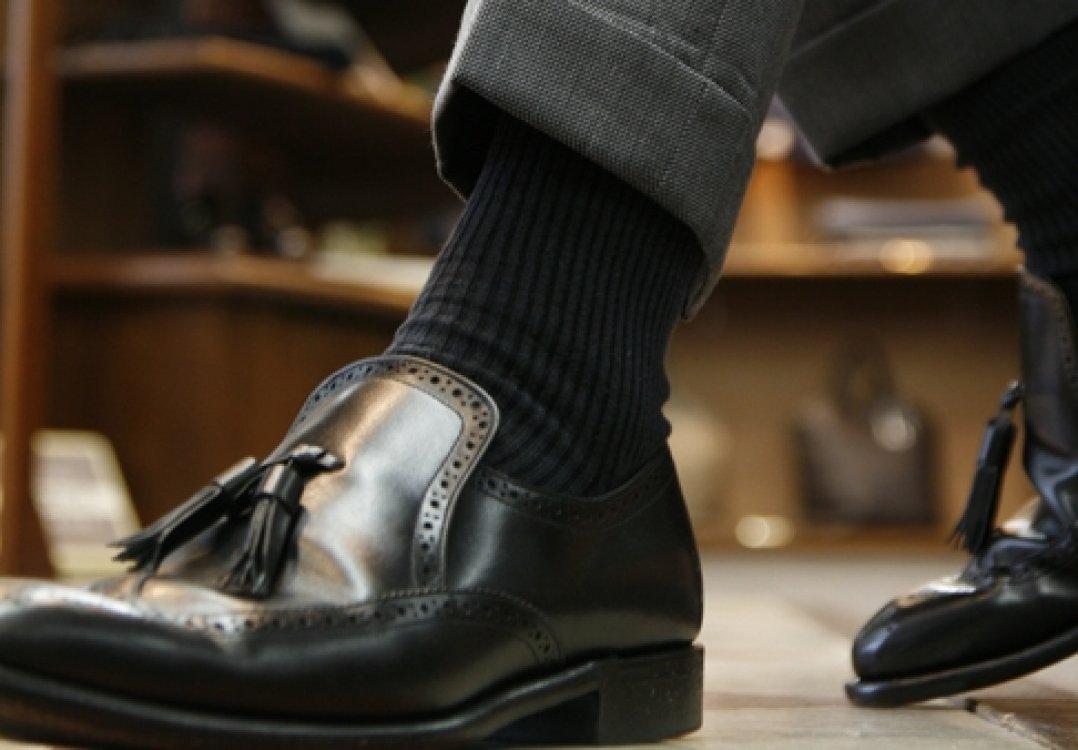 スーツに合わす靴下