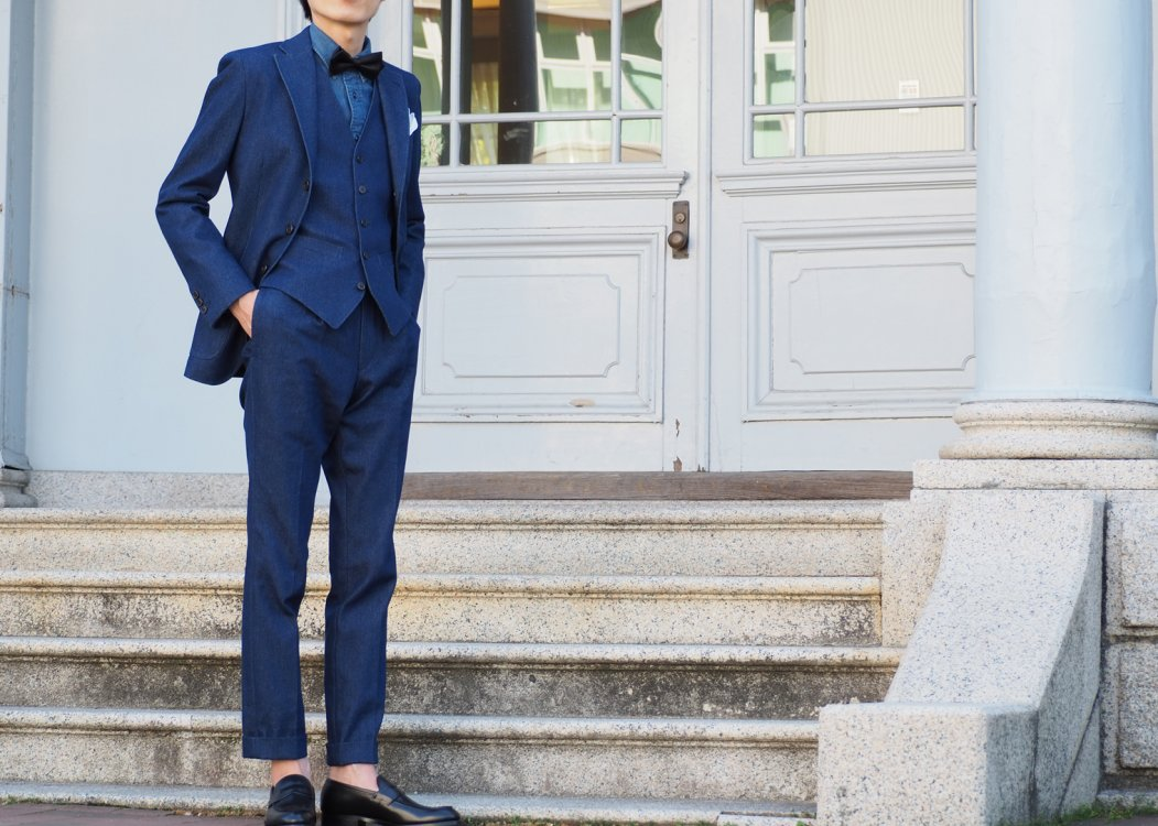 tailor denim suit