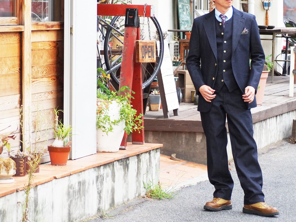 street denim suit