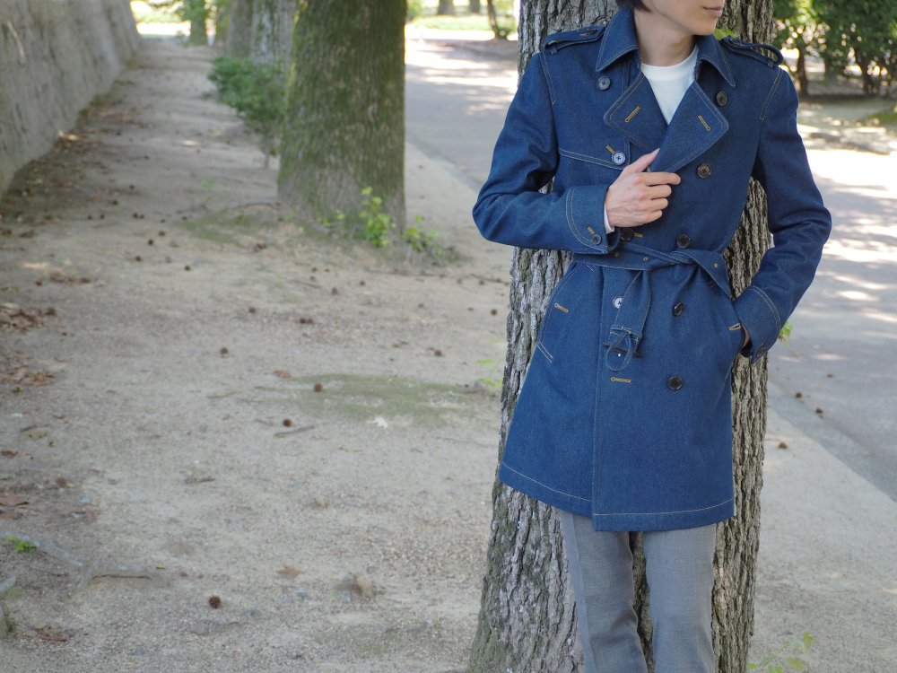 denim trenchcoat