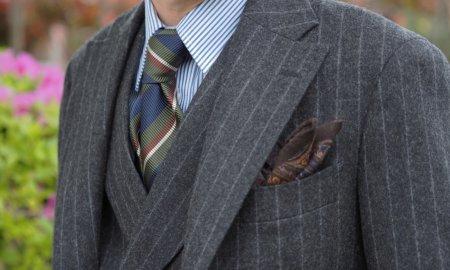 ギリギリ間に合うか、フランネル生地のスーツ。