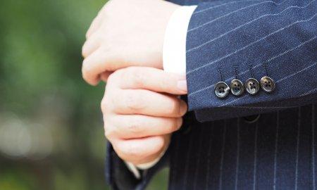 スーツの袖口、こんなとこにこだわり。
